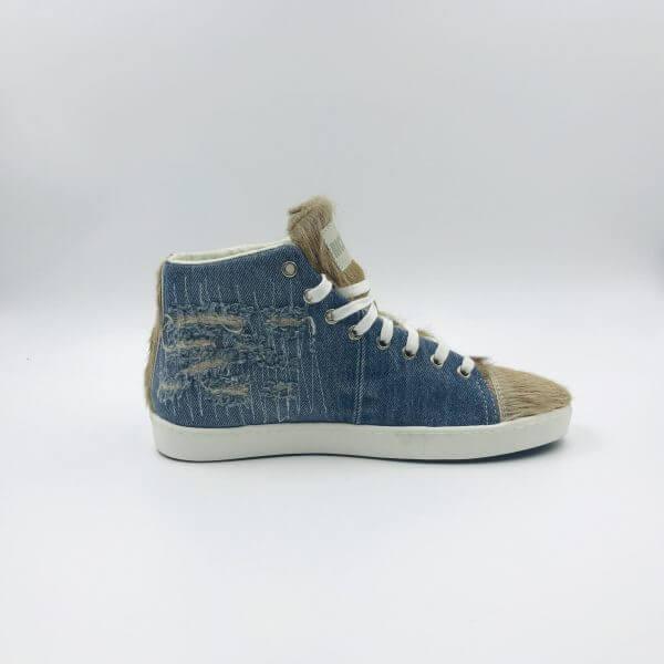 Sneakers light blue / latte