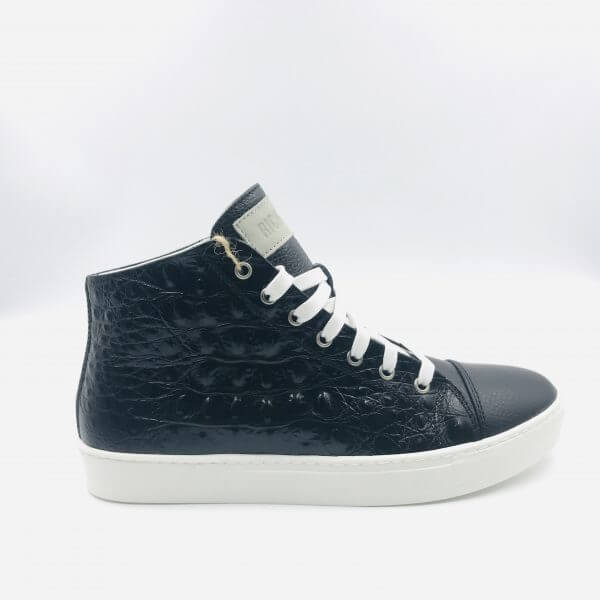 Leather & crocodile leather