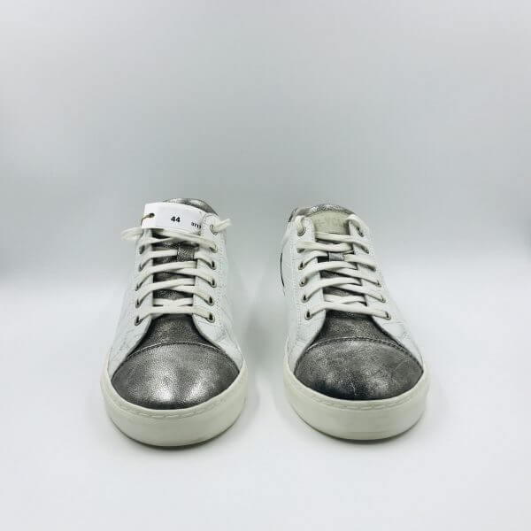 Coco leather with Dark silver leather front