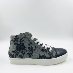 coco leather grey gobelin