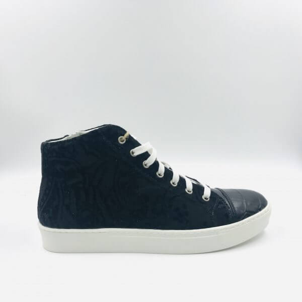 coco leather & velvet